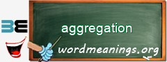 WordMeaning blackboard for aggregation